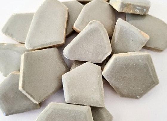 Grey Ceramic Pieces - 200 grams