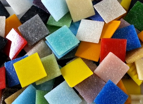 1Kg Vitreous Tiles (20x20mm) Various