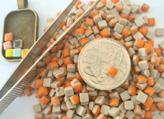 Orange - Micro Mini Ceramic Tiles