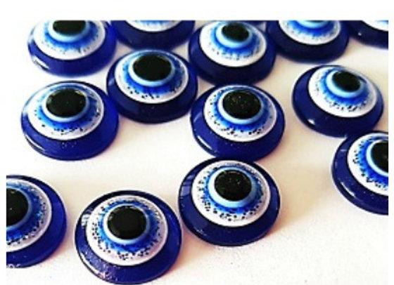 Acrylic Round Blue Eyes x 10