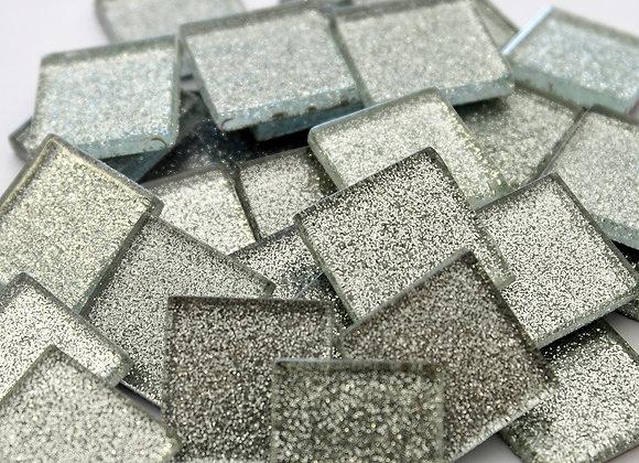 Glitter Tiles (23x23mm) Silver