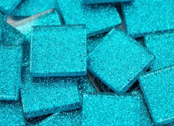 Glitter Tiles (23x23mm) Blue