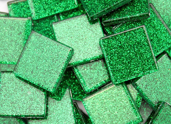 Glitter Tiles (23x23mm) Dark Green