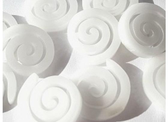 Acrylic Spirals x 10 pc - Winter White