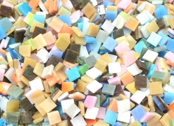 Stained Glass Opaque Squares - 10x10mm - Pastel Parfait
