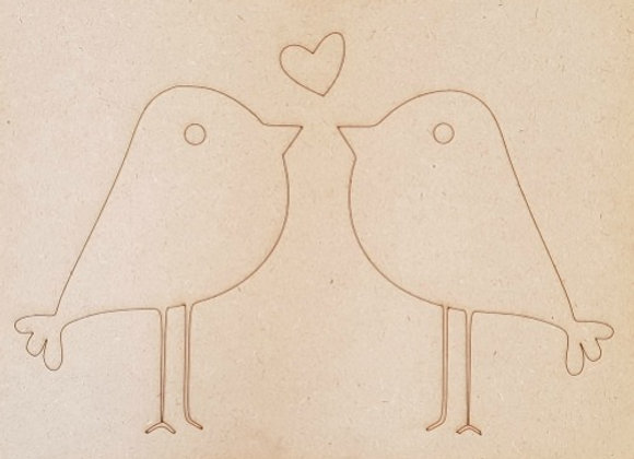 Engraved Love Birds
