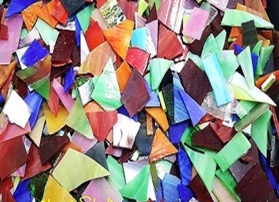 1 Kg Stained Glass Opaque Glass Pieces