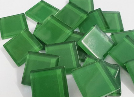 Crystal Tiles - (23x23mm) - Forest green