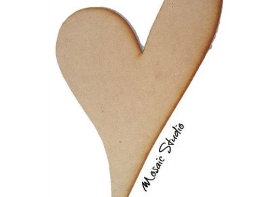 Slanted Heart - Med