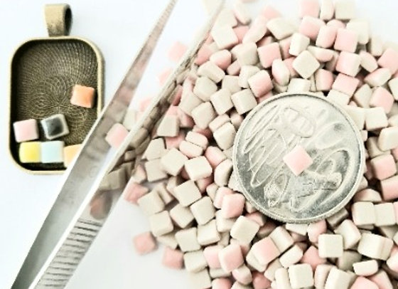 Baby Pink - Micro Mini Ceramic Tiles
