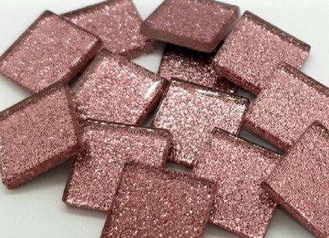 Glitter Tiles (23x23mm) Baby Pink