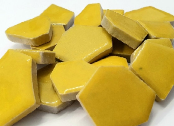 Yellow Ceramic Pieces - 200 grams