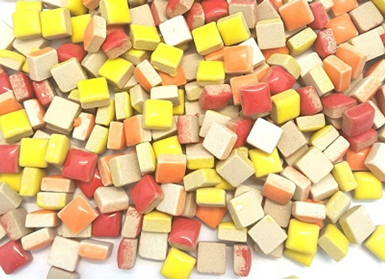 1Kg  Ceramic Mix (10x10mm) Sunburst