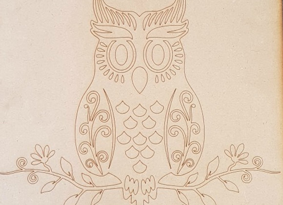 Engraved Morris the Owl - Large