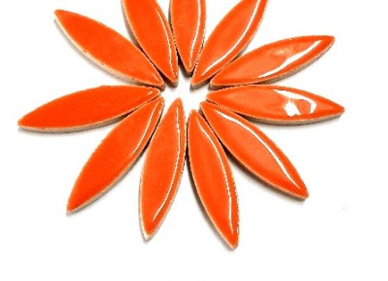 *New - Large Ceramic Petals - Orange x12