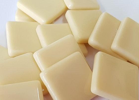 Opaque Squares (23X23mm) Cream
