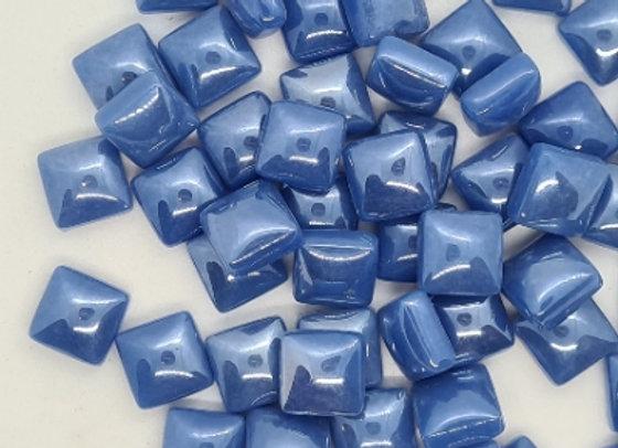Glass Pearlies 10x10mm -  Dreamy Blue