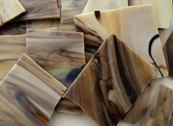 Stained Glass Pieces - Caramel Splice