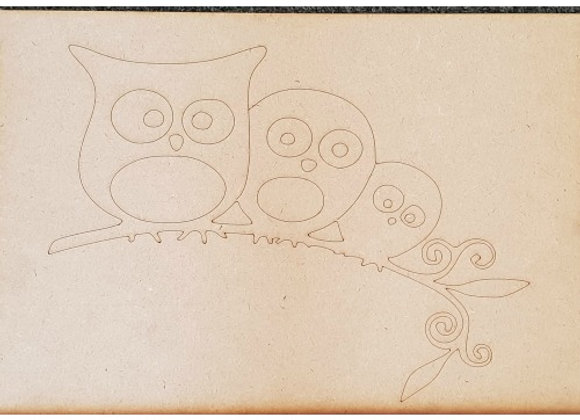 Engraved Tree Owls