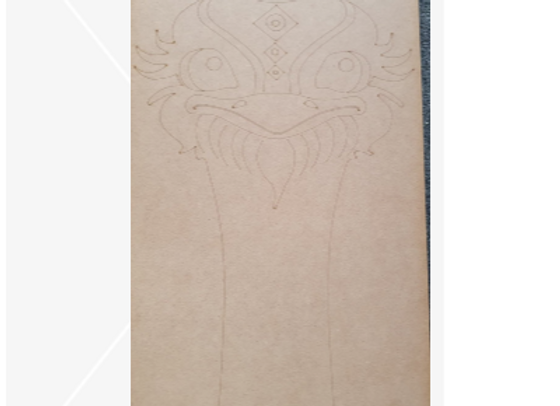 Engraved Elvis Emu Board
