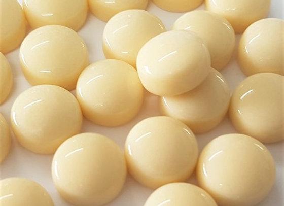 Glass Smarties Plain 12mm - Cream