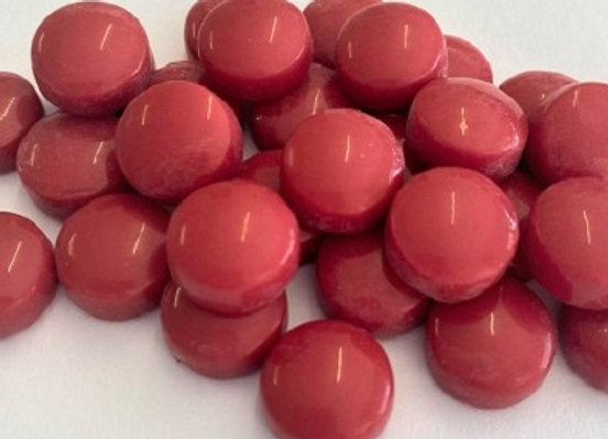 Glass Smarties Plain 12mm - Cherry Red