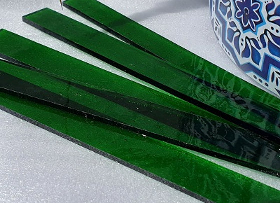 Transparent Stained Glass Sticks -Green