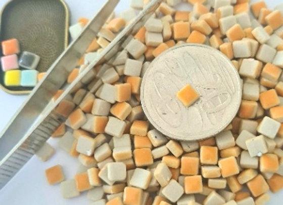 Pumpkin - Micro Mini Ceramic Tiles