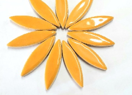 *New - Large Ceramic Petals - Pumpkin x12