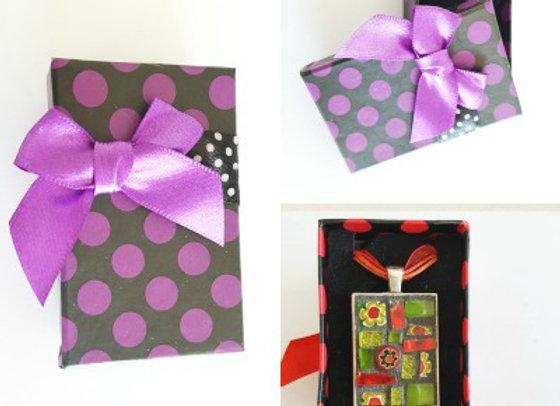 Gift Box x 1 - Purple Polka Dot