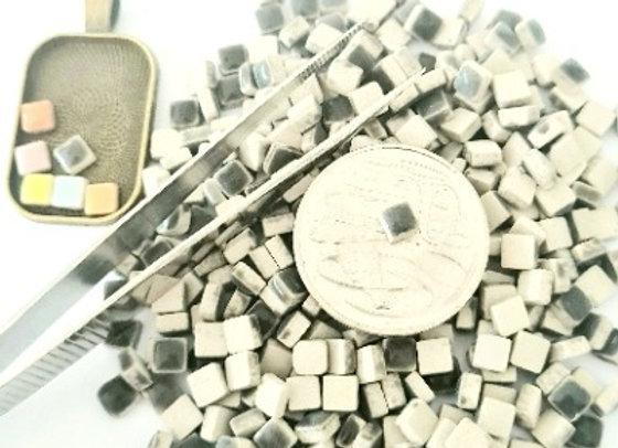 Black  - Micro Mini Ceramic Tiles
