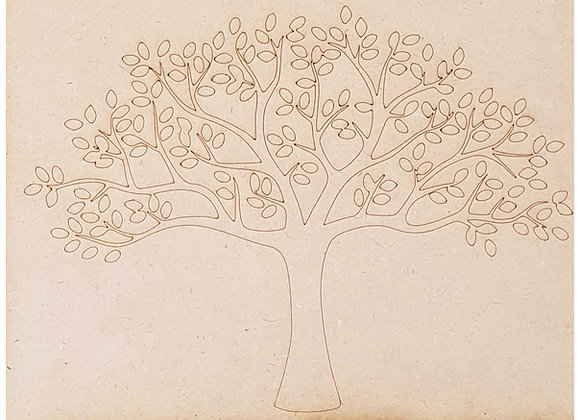 Engraved Tree Life - 475x350x9mm