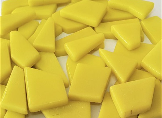 Glass Puzzle Pieces - Yellow