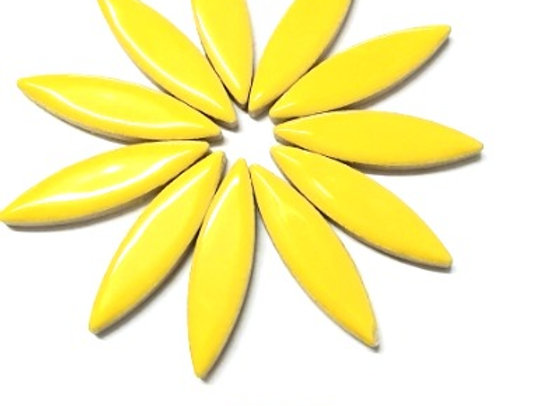 *New - Large Ceramic Petals - Yellow x12