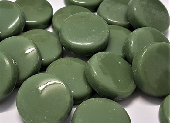 Glass Smarties Plain - 20 mm Olive