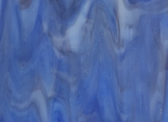 Stained Glass Sheet - Blue Berry Swirl