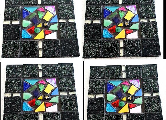 Mosaic Coaster Kit - Square - Licorice All Sorts