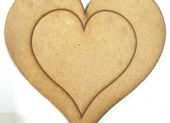 Engraved Heart -Small 170x170x9mm