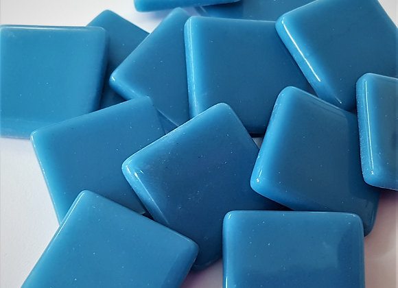 Glass Opaque Squares (23X23mm) Teal