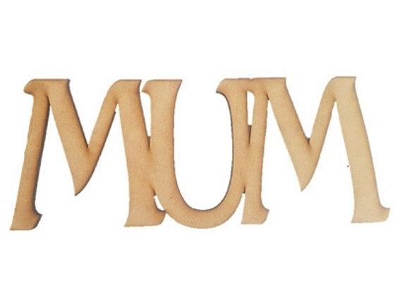 Mum - Wood Cutout - 350x135x6mm