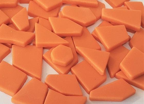 Glass Puzzle Pieces - Orange