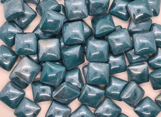 Glass Pearlies 10x10mm - Dark Teal