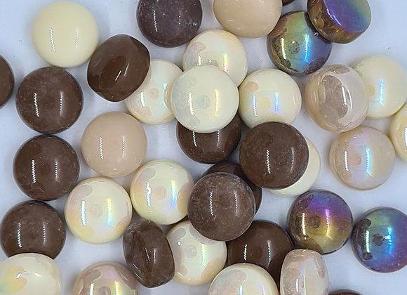 Glass Smarties 12mm - Latte Mix