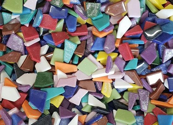 1 Kg Glass Puzzle Pieces - Mixed