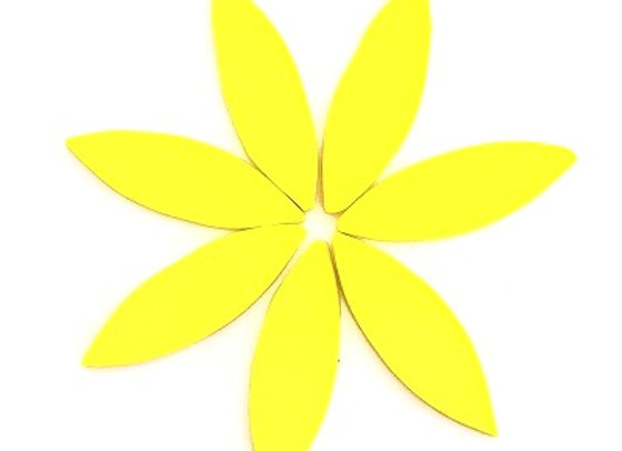 Hot Yellow Stained Glass Petals - x 7