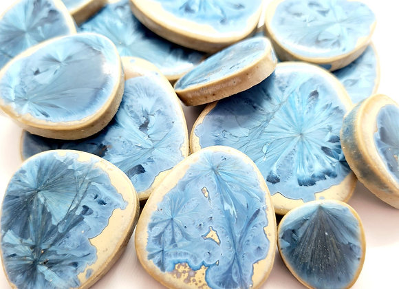 Urban Cobblestone - Blue Lagoon Crackle- 150grams