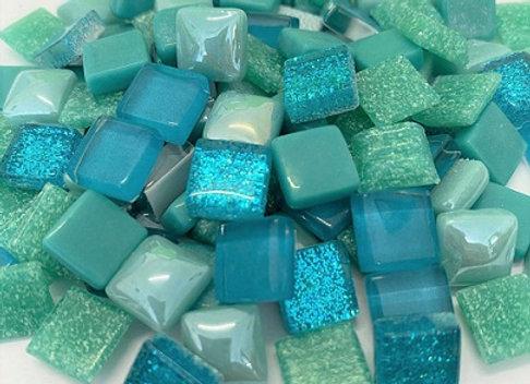 Tesserae Mix (10x10mm) Aquamarine