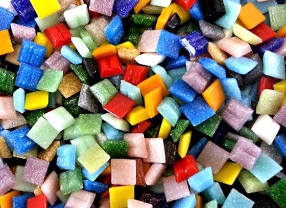 500pc Vitreous Tiles(10x10mm) Various