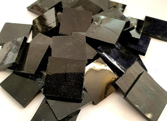 Stained Glass Squares 20x20x3mm -Black