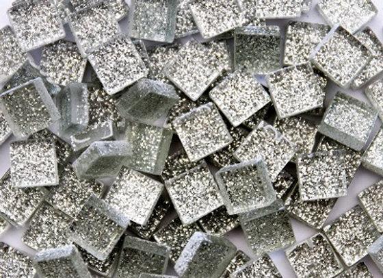Glitter Tiles (10x10mm) Silver